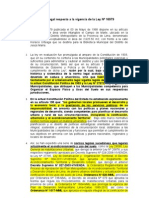 Posiciòn legal de la municipalidad de Jesús María sobre la derogaciòn tácita de la Ley 16979