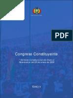 Tomo V. Congreso Constituyente