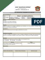 1° PLANEACION QUINCENAL ARTESVISUALES II  _ 2012-2013
