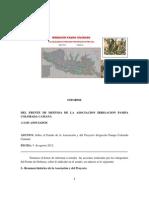 Pampa Colorada Camaná INFORME Nº 1 Frente de defensa