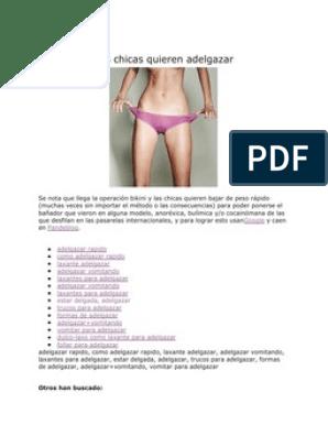 trucos para adelgazar rapido anorexia websites