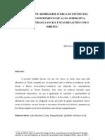 Ações Afirmativas. Sociologia Jurídica