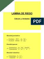 Lamina de Riego