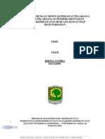 Analisis Hubungan Motivasi Perawat Pelaksana Dengan Pelaksanaan Pendokumentasian Asuhan Keperawatan Di Ruang Rawat Inap Rsud Pariaman 2012-Rona Sandra