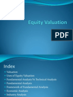 Equity Valuation (Lecture 1)