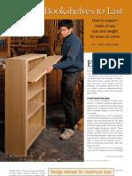 Building Bookshelves to Last
