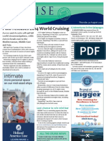 Cruise Weekly for Thu 30 Aug 2012 - PO World Cruising, G Adventures Galapagos, Record CDU, Oceania joins ICCA and much more...