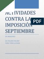 ACTIVIDADES  CONTRA LA IMPOSICIÓN PARA EL MES DE SEPTIEMBRE (PRIMERA QUINCENA).