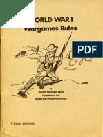 [Skytrex] - World War 1 Wargames Rules