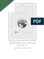 Onyx Boox m92 Manual