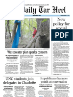 The Daily Tar Heel for August 30, 2012