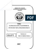 GLOBALIZACION PAIS POLEMOLOGÍA ensayo FINAL
