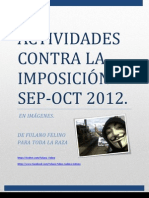 ACTIVIDADES  CONTRA LA IMPOSICIÓN SEPTIEMBRE / OCTUBRE 2012 (ACTUALIZADO 14-SEP-2012).