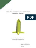 Diseño, cálculo y verificación de un arogenerador marino con fondeo TLP