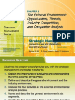 The External EnvironmentOpportunities, Threats,Industry Competition,And Competitor Analysis