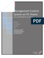 Management Control System at ITC Hotels Final