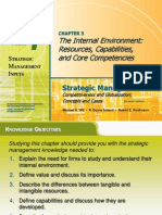 The Internal Environment Resources, Capabilities, And Core Competencies