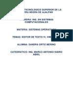 Editor de Texto Vi, Vim, Emacs