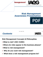 Risk Management Awareness 0909