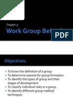 Chapter 3 Work Group Behavior