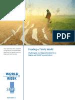 Feeding a Thirsty World 2012 - worldwaterweek Report 31