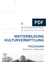 Museumsmanagement Niederösterreich - Programm Lehrgang Kulturvermittlung