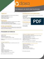 CTEL- Maîtriser les techniques de vente par téléphone