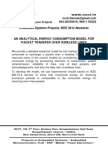 Embedded System Project Abstracts, IEEE 2012 - An Analytical Energy Consumption Model for Packet Transfer Over Wireless Links