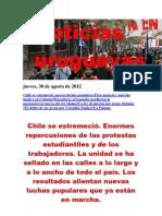 Noticias Uruguayas Jueves 30 de Agosto Del 2012