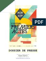 5e édition du festival Premiers Actes