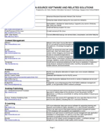Open Source Softwares List