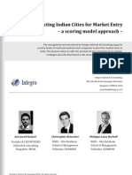 Selecting Indian Cities for Market Entry