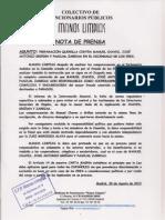 Nota Prensa Comision de Los Eres