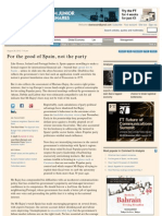 For the Good of Spain, Not the Party - FT.com