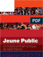 Brochure Jeune Public de l'Orchestre Philharmonique de Radio France 2012-2013