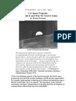 US Space Program--Who Built It