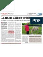 12.07.2011 - La Meuse - la fin de CHB se précise encore