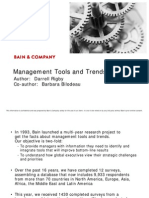 Management Tools and Trends 2009 Global Results