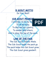 Cub Scout Motto Promise Law