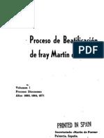 Anonimo - Proceso de Beatificacion de Fray Martin de Porres