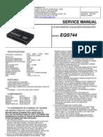 Clarion Servisemanual_EQS744 Audio Car