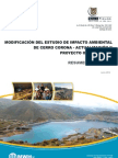Minera Gold Fields La Cima – Proyecto Cerro Corona – Resumen Ejecutivo (Español)