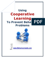 Using Cooperative Learning to Prevent Behaviour Problems