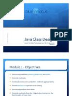 Module 01 - Java Class Design