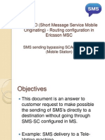 SMS MO Routing Configuration in Ericsson MSC