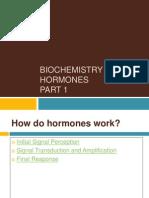 Biochemistry of Hormones 1