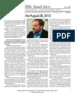 208 - Benjamin Fulford for August 28, 2012