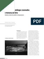 Inventarios, catalogos razonados e Hª del A