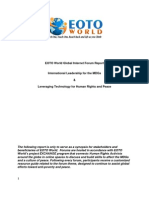 Global Forum Report July 2012
