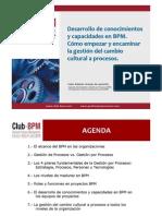 Club BPM Webinar DesarrolloConocimientosyCapacidadesEnBPM